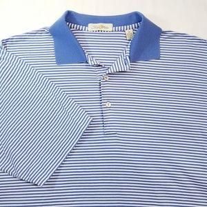 Peter Millar Men's Striped Polo Shirt Sz M EUC